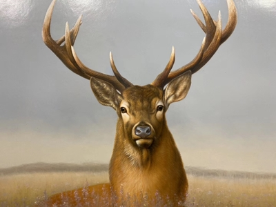 Handmade Deer Oil Paintings