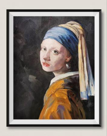 The Girl with a Pearl Earrings Oil Paintings