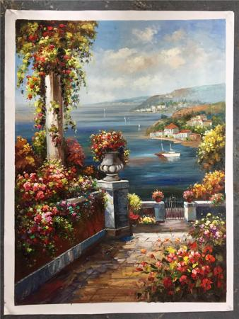 Mediterranean Landscape Oil Paintings