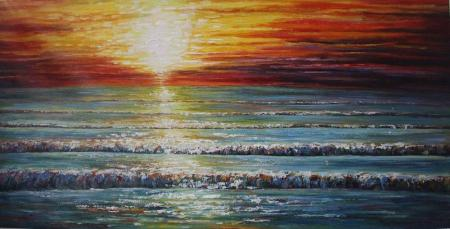 canvas painting sunrise