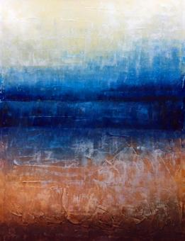 Abstract blue oil painting