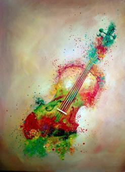 Musical Instrument Oil Paintings